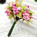 Mini Bouquet Flower Stamen - Big Glass Head, Magenta, 10 pieces, Long 9cm, [ST1124]